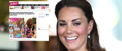 Ser du hva som er galt med bildet av Kate?