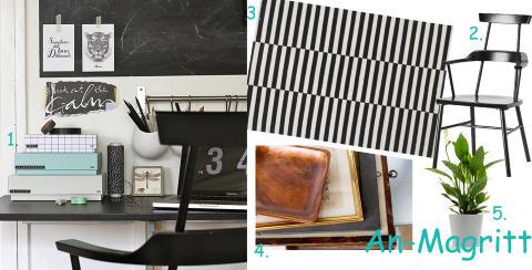 SORT/HVITT: Ja takk til kontraster, pastellfarger og detaljer i brunt og gull.  FOTO: Blogger/Produsentene