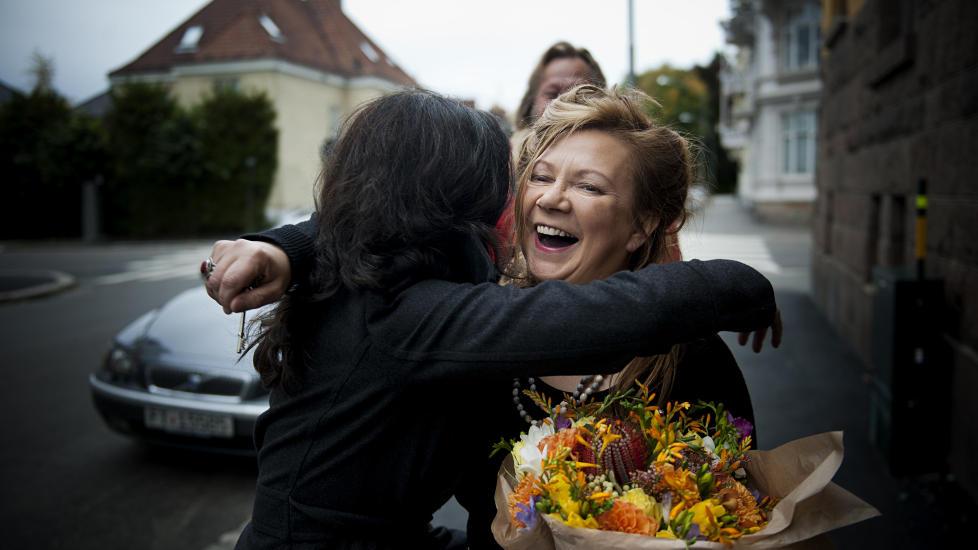 F�R STIPEND: S�ndag fikk sanger Mari Boine utdelt statsstipend fra kulturminister Hadia Tajik. Dette betyr at hun vil f� l�nn fra staten fram til hun pensjonerer seg. Foto: Benjamin A. Ward / Dagbladet