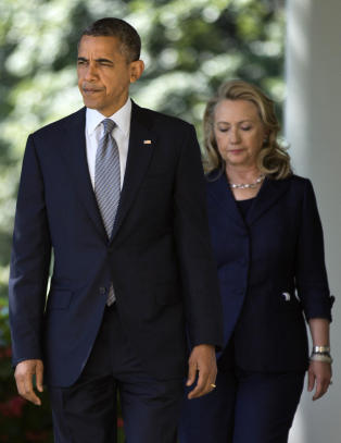 Hillary Clinton beskytter Obama f�r ny duell