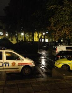 Br�t ut slagsm�l p� politisk m�te i Oslo