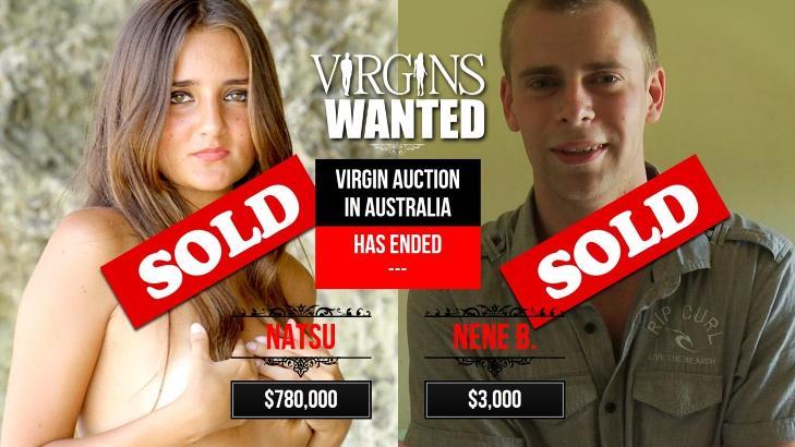 SOLGT:  Nettsidene til «Virgins Wanted» viser nå at både gutten og jenta har solgt dyden sin. Jenta fikk langt mer penger enn gutten.
