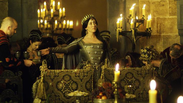 FRA �THE TUDORS�:  Maria Doyle Kennedy, ikke minst kjent fra  �Downton Abbey� og The tudors skal spille venninne av hovedrollen i den nye filmen. Her er hun i rollen som dronning Katherine av Aragon i �The Tudors�. Foto: NRK
