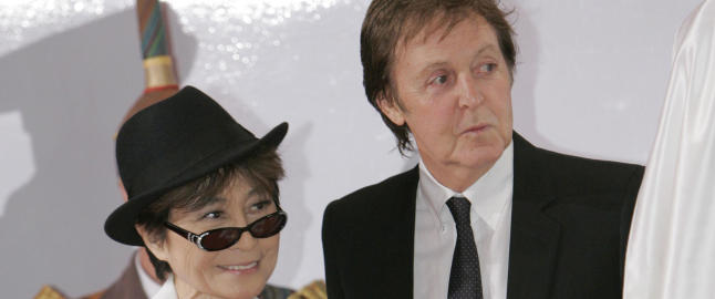 Paul McCartney frikjenner Yoko Ono