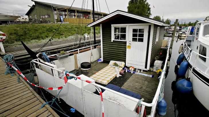 HUSBÅTEN: To dager etter at han fikk et ølglass i hodet, ble Andreas funnet død her. Dødsårsaken var hjerneblødning etter å ha fått et ølglass i hodet. Foto:  Kristian Ridder-Nielsen / Dagbladet