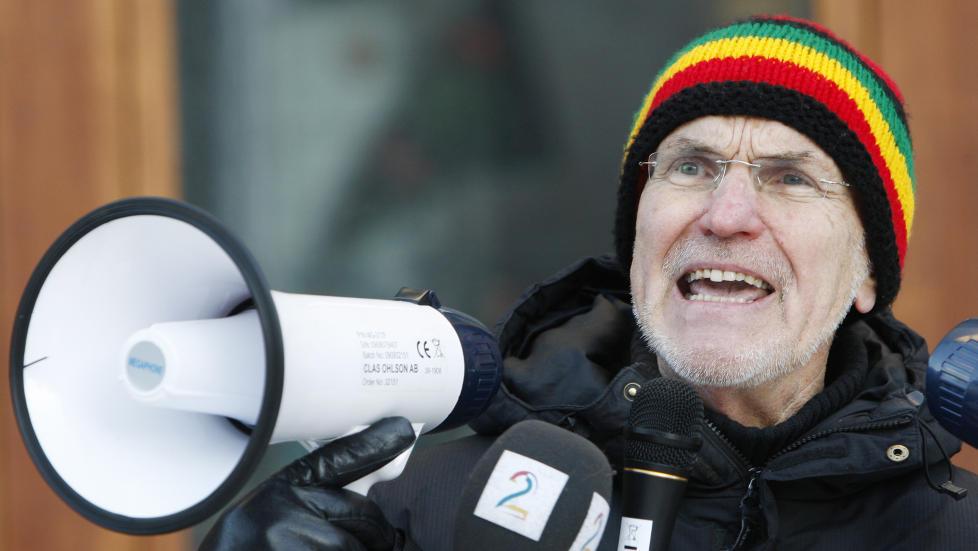 RADIKAL: Trond Ali Linstad har i en �rrekke markert seg som radikal muslim. Her fra en demonstrasjon i 2010.  Foto: ERLEND AAS / NTB SCANPIX
