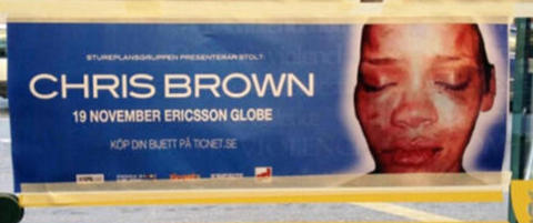 Forsl�tt Rihanna �reklamerer� for Chris Brown