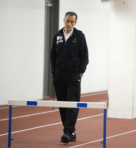 NEKTER : Petar Vukicevic innr�mmer kontakt, men benekter en hver form for aktiv doping. Her er han p� Bislett stadion i forbindelse med ei trening. Foto: �istein Norum Monsen / DAGBLADET