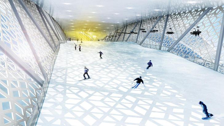 SKIGLEDE: � dra til Danmark for � st� p� ski kan bli en realitet. Illustrasjon: DANSKI.DK
