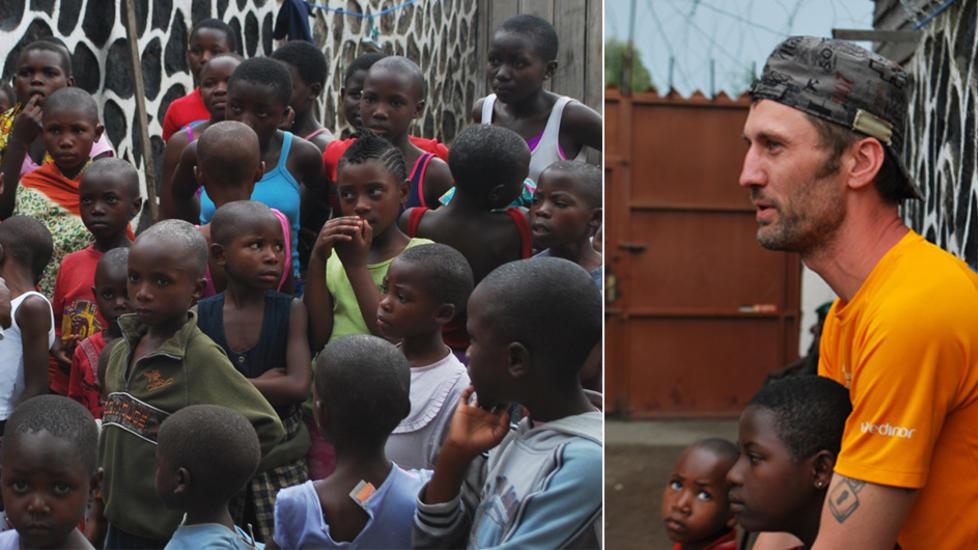FARLIG REISE: Tommy Rasmussen er på vei til Goma for å redde disse barna ut av den krigsherjede byen Goma, hvor de er stengt inne uten tilstrekkelig mat og vann. Foto: New Chance