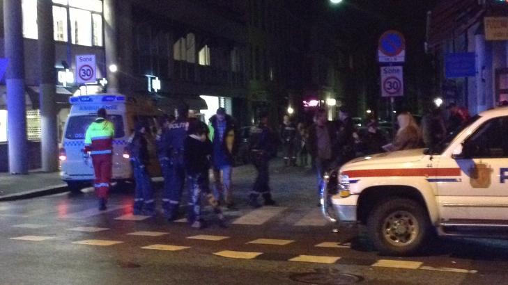 MANGE INVOLVERTE: Rundt 40-50 personer var involvert i masseslagsm�let. Foto: Dagbladet-tipser
