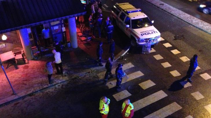 KAOTISK: - Det var ganske kaotisk da politiet kom til stedet, sier Finn Belle, operasjonsleder i Oslo politidistrikt. Foto: Dagbladet-tipser