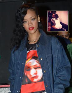 Rihanna legger ut topplsbilder av seg selv, og av eksen i senga