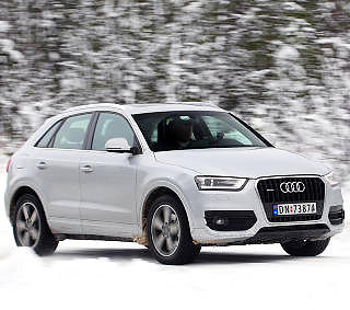 GJERRIG SUV: Audi Q3 2,0 TDI med 140 hk har forbruk nesten på kompaktbilnivå, med 0,53 l/mil.