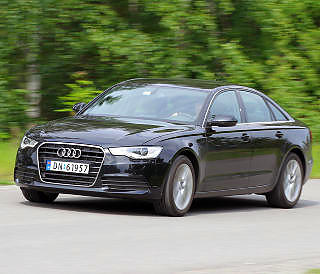 GJERRIG STORBIL: Stor bil betyr ikke automatisk h�yt forbruk. Audi A6 2,0 TDI greide testrunden p� 0,53 l/mil.