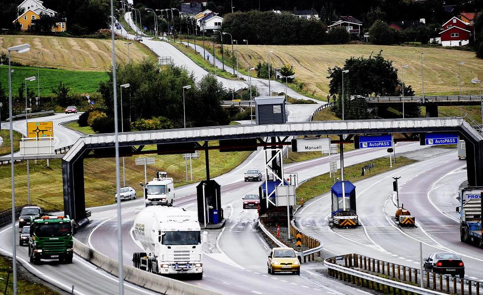 INEFFEKTIVT: Rapporten fra Riksrevisjonen viser at bomprosjektene drives lite effektivt, og at mye av pengene går til driftskostnader. Her fra bomringen rundt Trondheim. Foto: Thomas Rasmus Skaug / Dagbladet