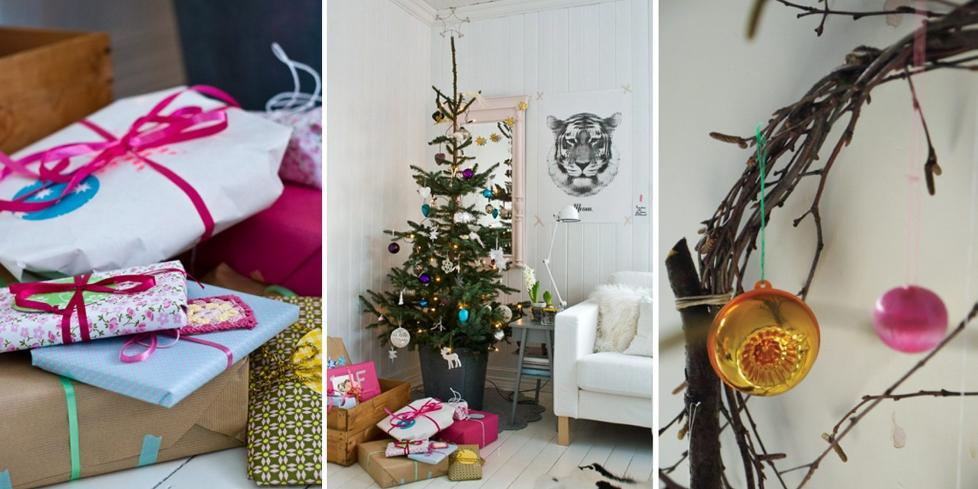 INSPIRASJON: N� er det bare et par dager i gjen til julaften. La deg inspirere av sju ulike bloggeres fantastiske julepyntede hjem! FOTO: Stine Ringen Rogstad / Hilde Mork