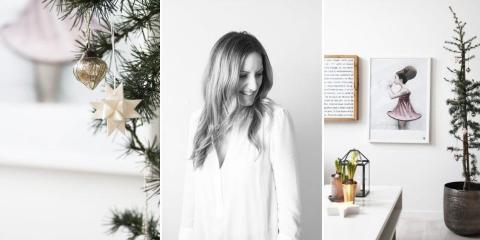 Elisabeth Heier-Werner blogger fra sin loftsleilighet p� Gr�nerl�kka under navnet Elisabethheier. Hvit jul innend�rs er noe av det fineste hun vet. � FOTO: Krekling Photo/Elisabeth Heier-Werner.