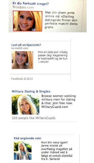 - FOR LANGT: Bloggeren Voe er slett ikke fornøyd med at gamle bilder av henne stadig dukker opp i Facebook-annonser. Foto: Skjermdump / Voeblogg.no
