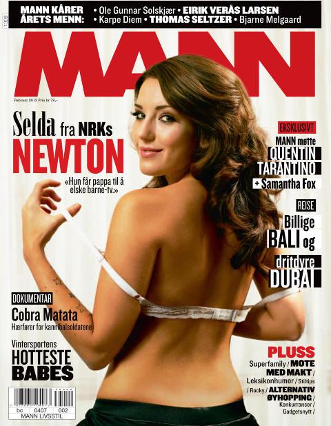 FORSIDEPIKE: Etter k�ringen stilte Selda Ekiz opp p� forsiden til magasinet MANN. Foto: MANN