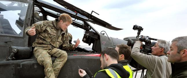 Prins Harry sier han har drept i Afghanistan