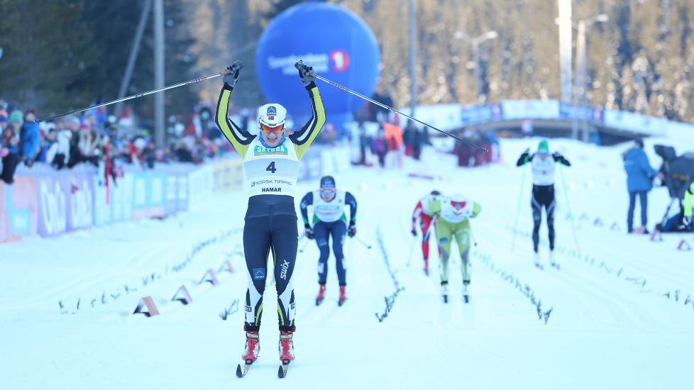 BEST IGJEN: Maiken Caspersen Falla tok NM-gullet i sprint for andre år på rad. Foto: Håkon Mosvold Larsen / NTB Scanpix