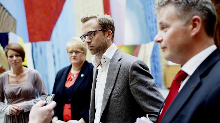 TAUS: - Dette gidder jeg ikke, ha det bra, sier leder av Oslo H�yre, Nikolai Astrup. Foto: Stian Lysberg Solum / NTB scanpix