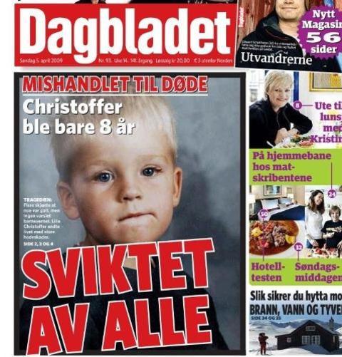 SVIKTET AV ALLE: Christoffer Gjerstad Kihle ble bare �tte �r.