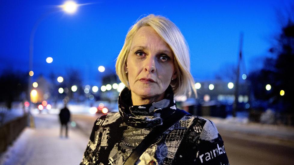 OPPR�RT: Lena Andreassen reagerer kraftig p� innr�mmelsene til PST-agenten Christian H�ib�, som hun stolte p�. Foto: Lars Eivind Bones / Dagbladet