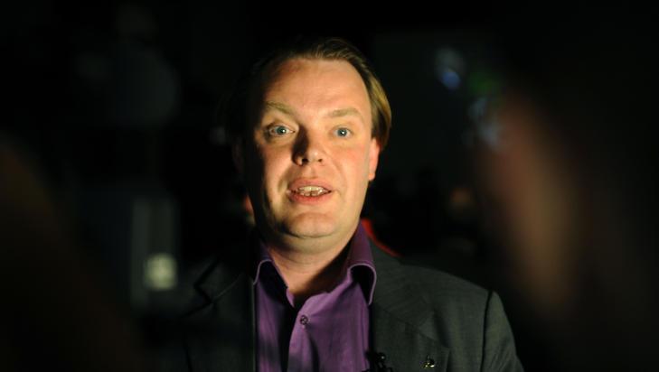 OPPR�RT: Piratpartiets grunnlegger Rickard Falkvinge mener antipornoforslaget er et �h�rreisende� angrep p� ytringsfriheten, og har mobilisert til motkampanje. Foto: OLIVIER MORIN / AFP / NTB SCANPIX