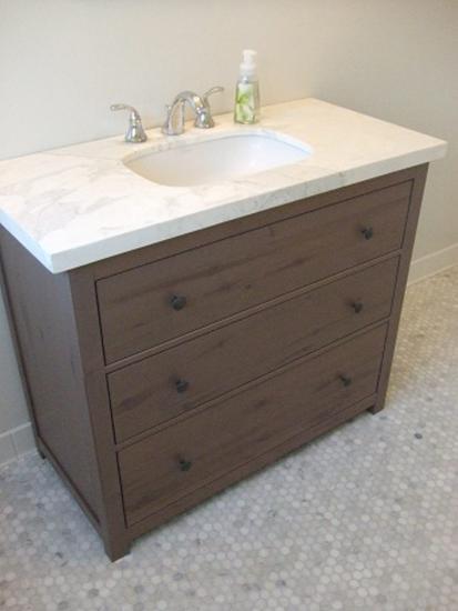 Nytt bad med enkle midler tema - Ikea bagno hemnes ...