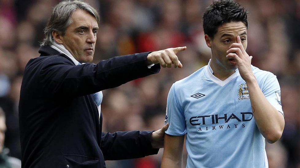 M�TTE SELGES:  Samir Nasir var ikke blid for at City-trener Roberto Mancini etter Newcastle-seieren hevdet at han bare spiller med 50 prosents innsats. Etter kampen fortalte han ogs� om hvordan Arsene Wenger var tvunget til � selge ham.  Foto: REUTERS / Stefan Wermuth / NTB Scanpix