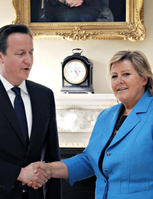 Solberg mtte Cameron i Downing Street 10