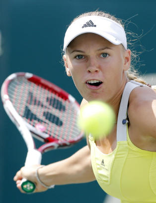 Wozniacki ute allerede i frste runde