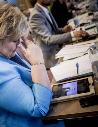 Her kan Erna Solberg knapt tro sine egne yne