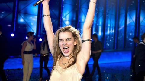 NOK EN SEIER? Emmelie de Forest vant den danske Eurosong-finalen. Vinner hun ogs� Eurovision i kveld? Foto: EPA / NTB scanpix