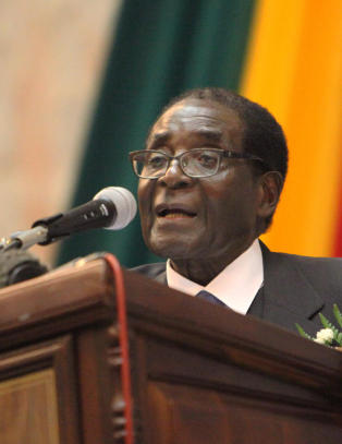 Kalte Mugabe for rttent, gammelt esel - mtte i fengsel