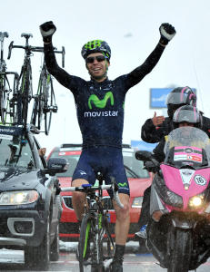 Visconti fullf�rte Movistar-hattrick