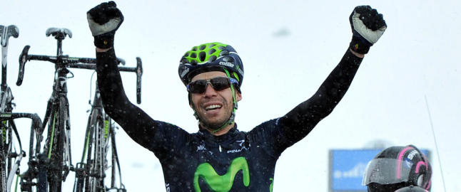 Visconti fullfrte Movistar-hattrick