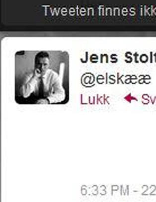 Sist gang var det #hvk, denne gangen er det @elsk fra Jens Stoltenberg