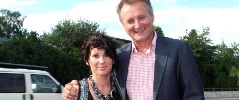 Frithjof Wilborn og kona med barnevakt for f�rste gang etter f�dslene