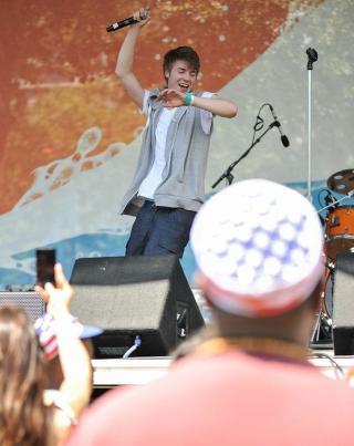 - MAGISK: - Det var helt magisk, og utrolig gøy å stå på scenen, sier Losnegår. Foto: Thea Losnegård