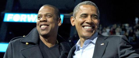 Rapperen Jay-Z avsl�rer tekstmeldinger med Obama