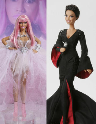 Se kjendisene som Barbie-dukker