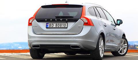 KOSTBAR: Ladbare Volvo V60 har v�rt en avgiftsvinner de siste �rene, men den er likevel vesentlig tyngre avgiftsbelagt enn en dieselversjon som slipper ut mer CO2. Foto: Egil Nordlien, HM Foto