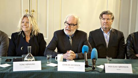 PRODUSENT OG REGISS�R:  Tone R�nning fra NRK, John M Jacobsen fra Filmkameratene og regiss�r Per-Olav S�rensen. Foto: Anders Gr�nneberg / Dagbladet.
