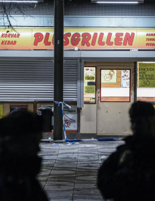 Fire personer skutt i Stockholm