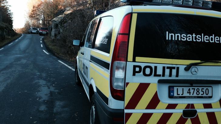 POLITI: Politiet var raskt p� stedet med flere biler. Foto: Leserbilde.