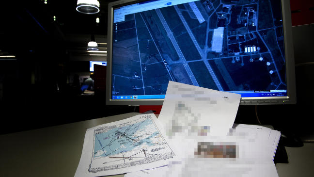 La ut dokumenter om ny kampflybase ved en feil