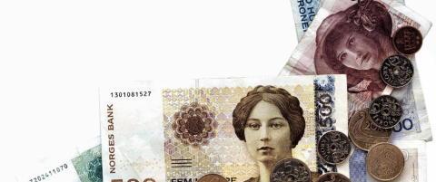Den norske krona styrker seg p� bedre tall enn ventet